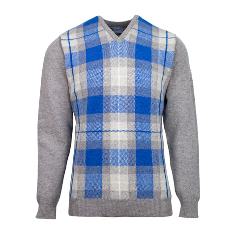 Tartan V-Neck Sweater