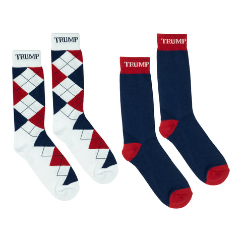 Red White & Blue Argyle - 2 Pack