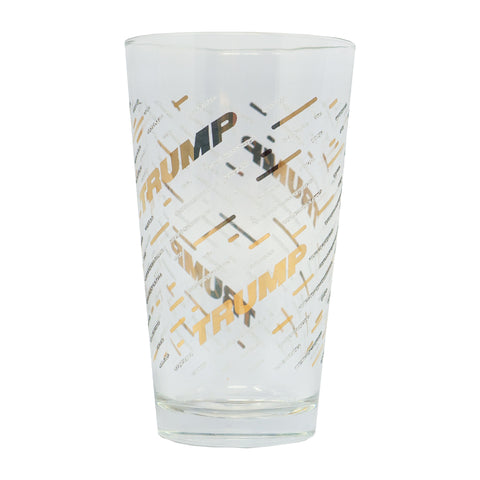 Clear Ice Gold Pint Glass