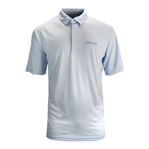 Performance Stripe Micro Pique Polo