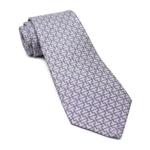 T Pattern Printed Design Tie (100)