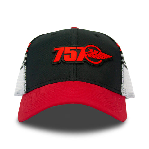 Red & Black Mesh Back Hat