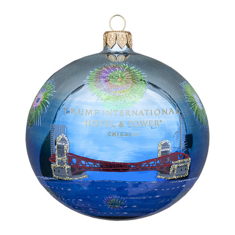 Trump Chicago Fireworks Ornament