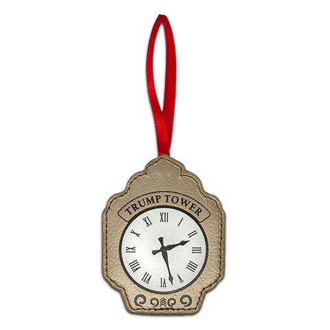 Clocktower Leather Ornament