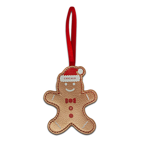 Gingerbread Leather Ornament