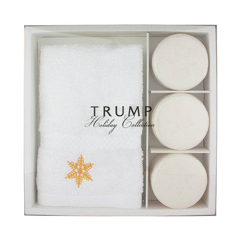 Snowflake Hand Towel & Soap Set