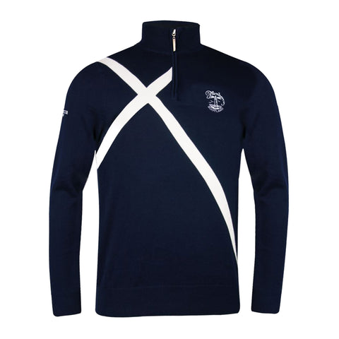 Saltire Zip Neck Sweater