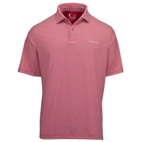 Owens Stripe Tech Polo - Red - Red Stripe