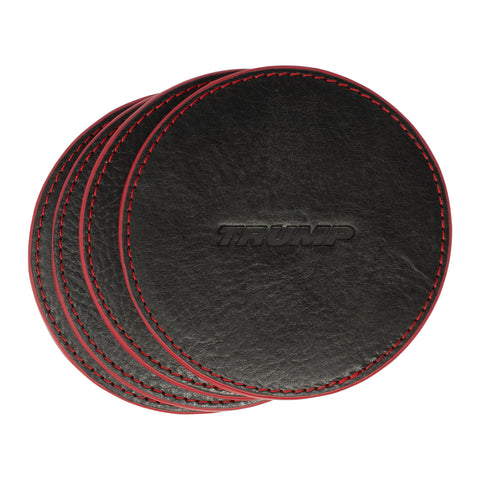 Jetsetter Leather Coaster Set