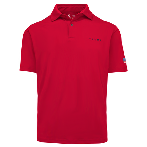 Classic Solid Tech Polo - Ruby Red