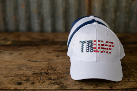 Silver Border Stars & Stripes Hat