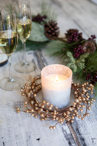 Lace Winter Candle