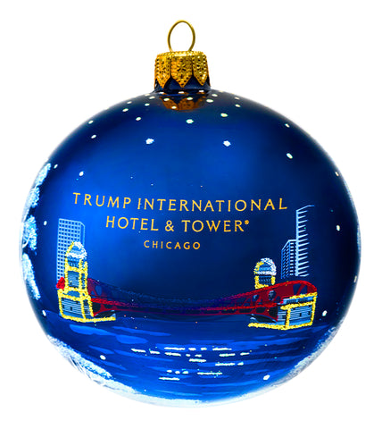 Trump Chicago Winter Round Ball Ornament