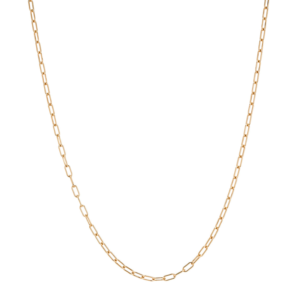 "Gold 30"" Oval Link Chain"