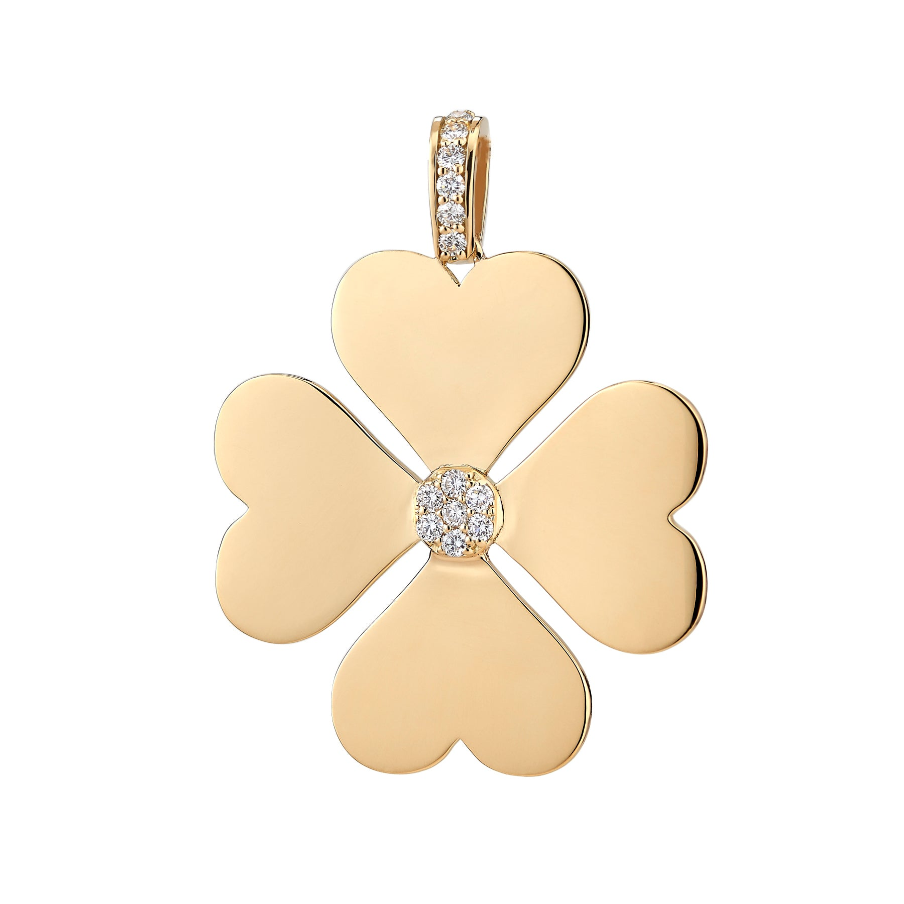 Diamond Heart Clover
