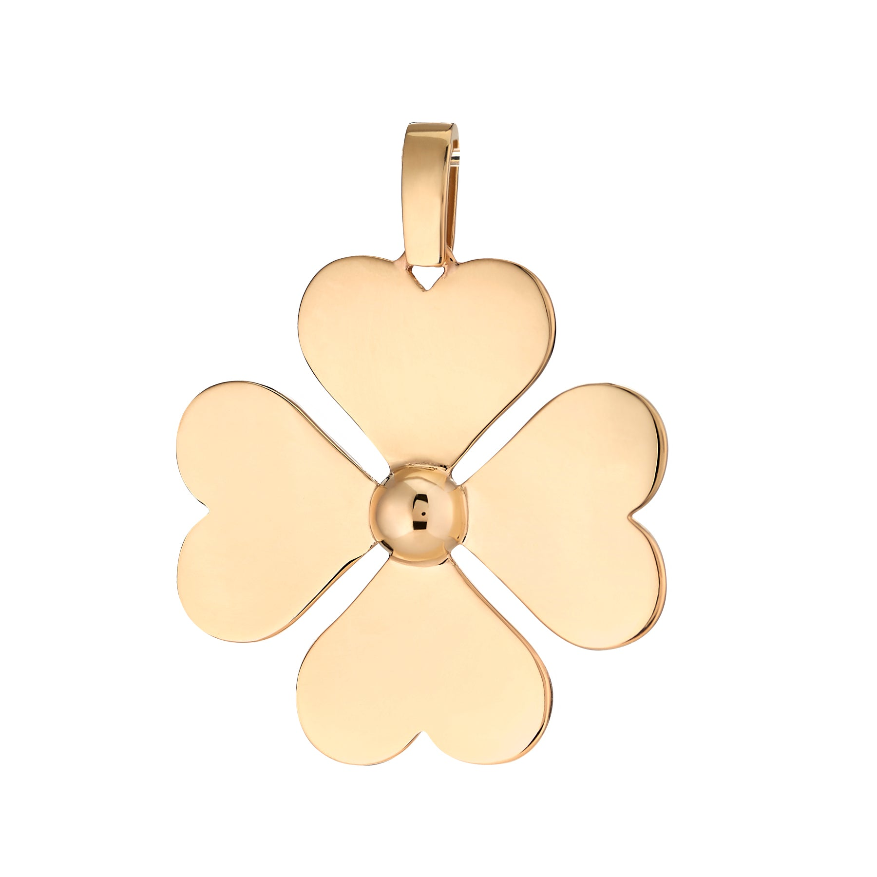Gold Heart Clover
