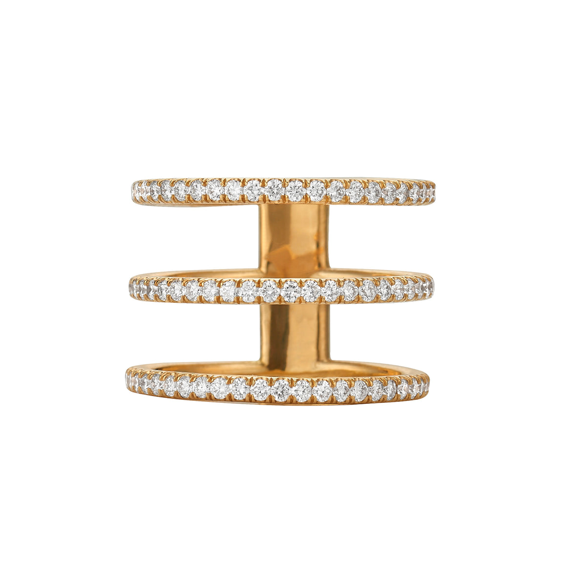 Diamond Triple Band Ring