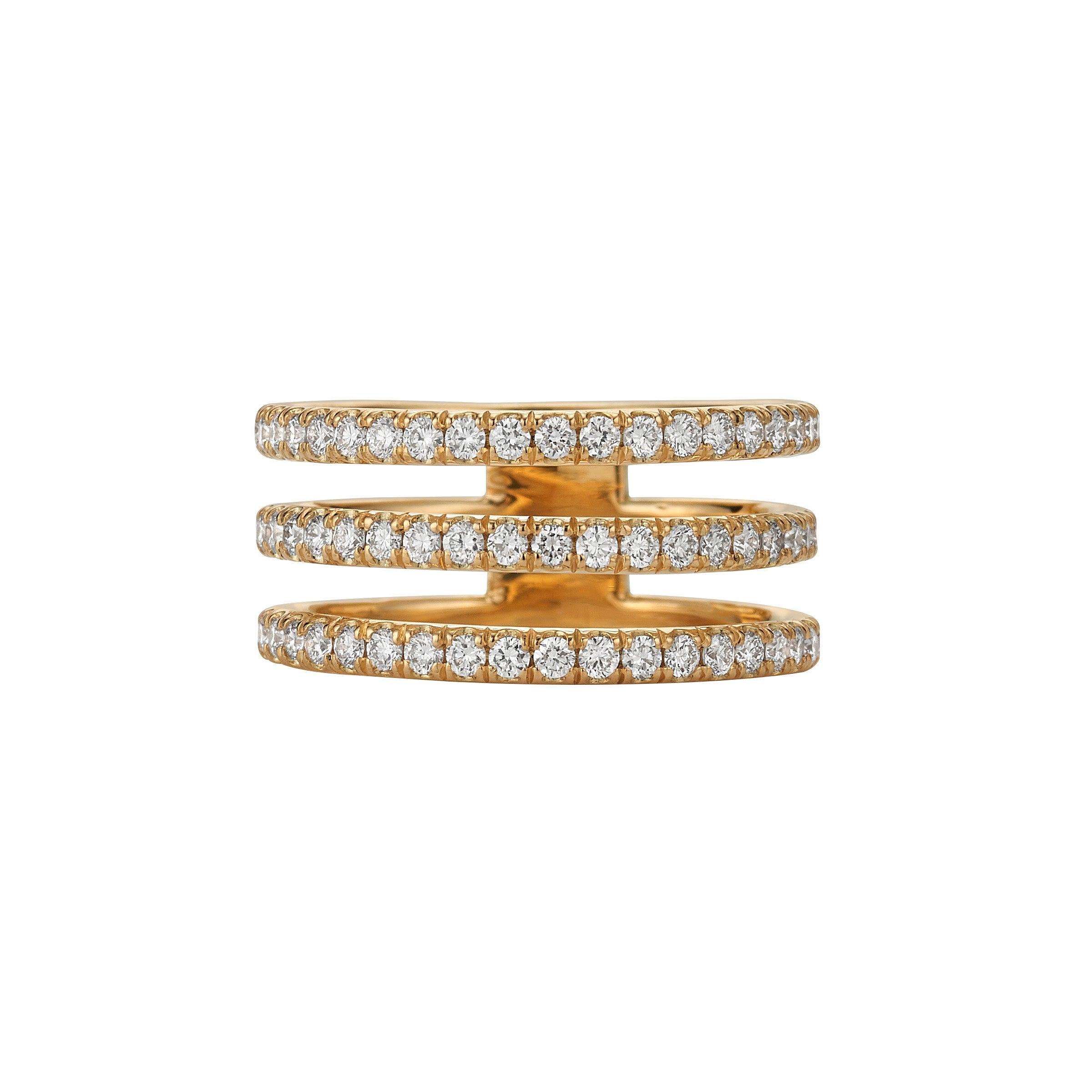 Diamond Triple Band Ring Sm