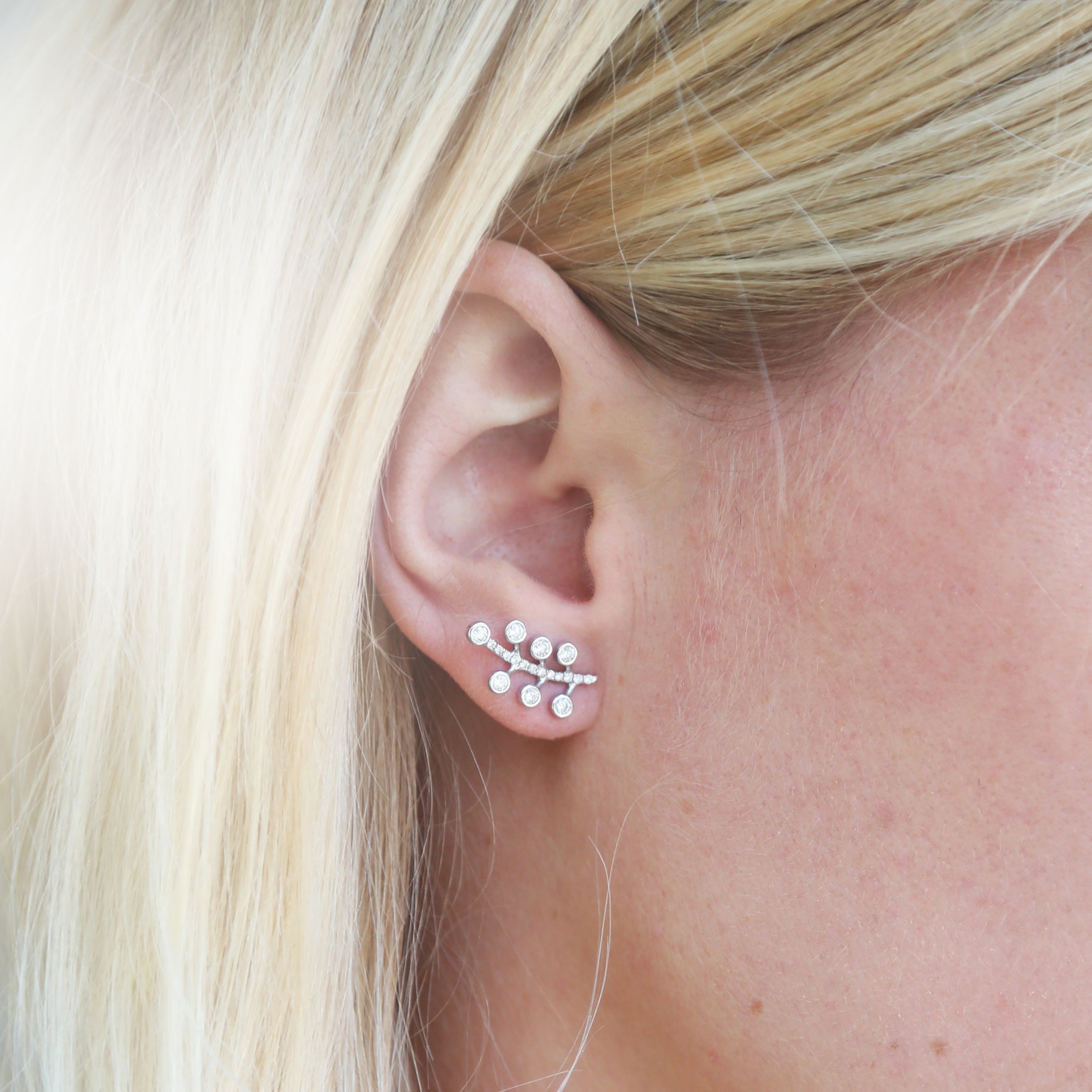 Diamond Berry Ear Climber