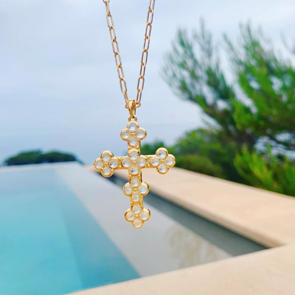 Moonstone Cross