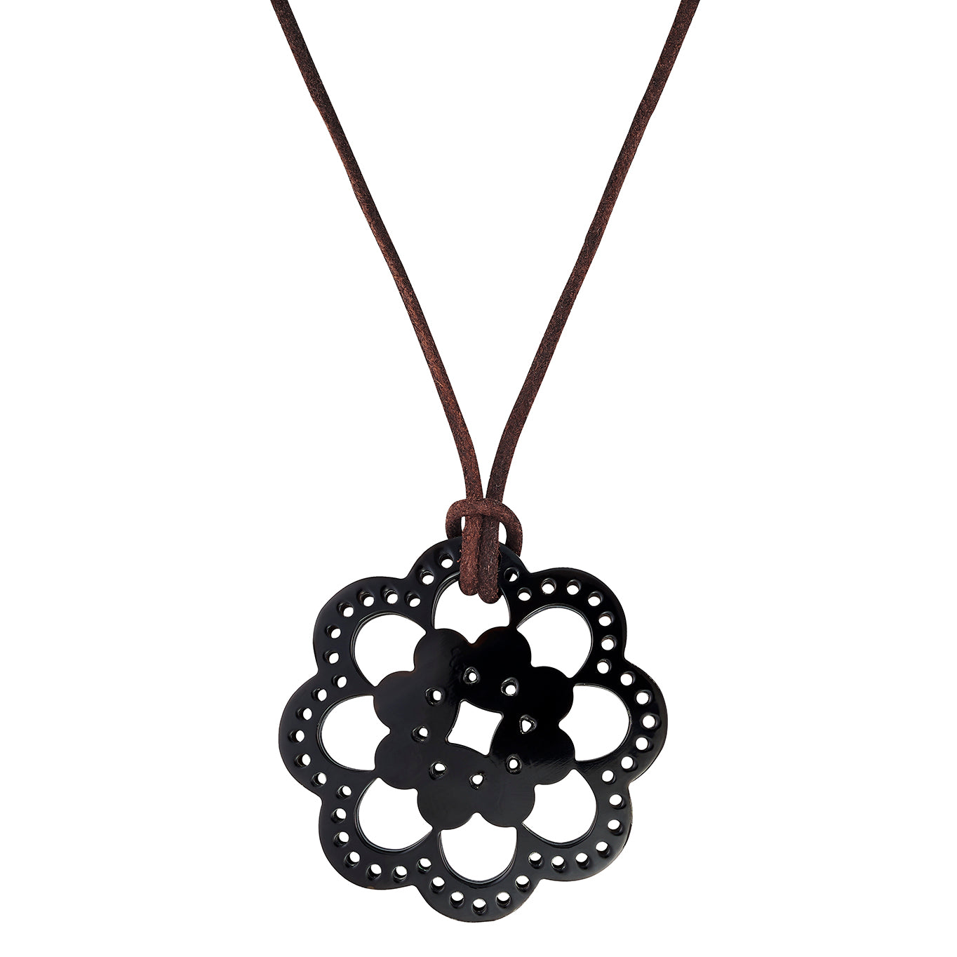 Dark Horn Flower Pendant