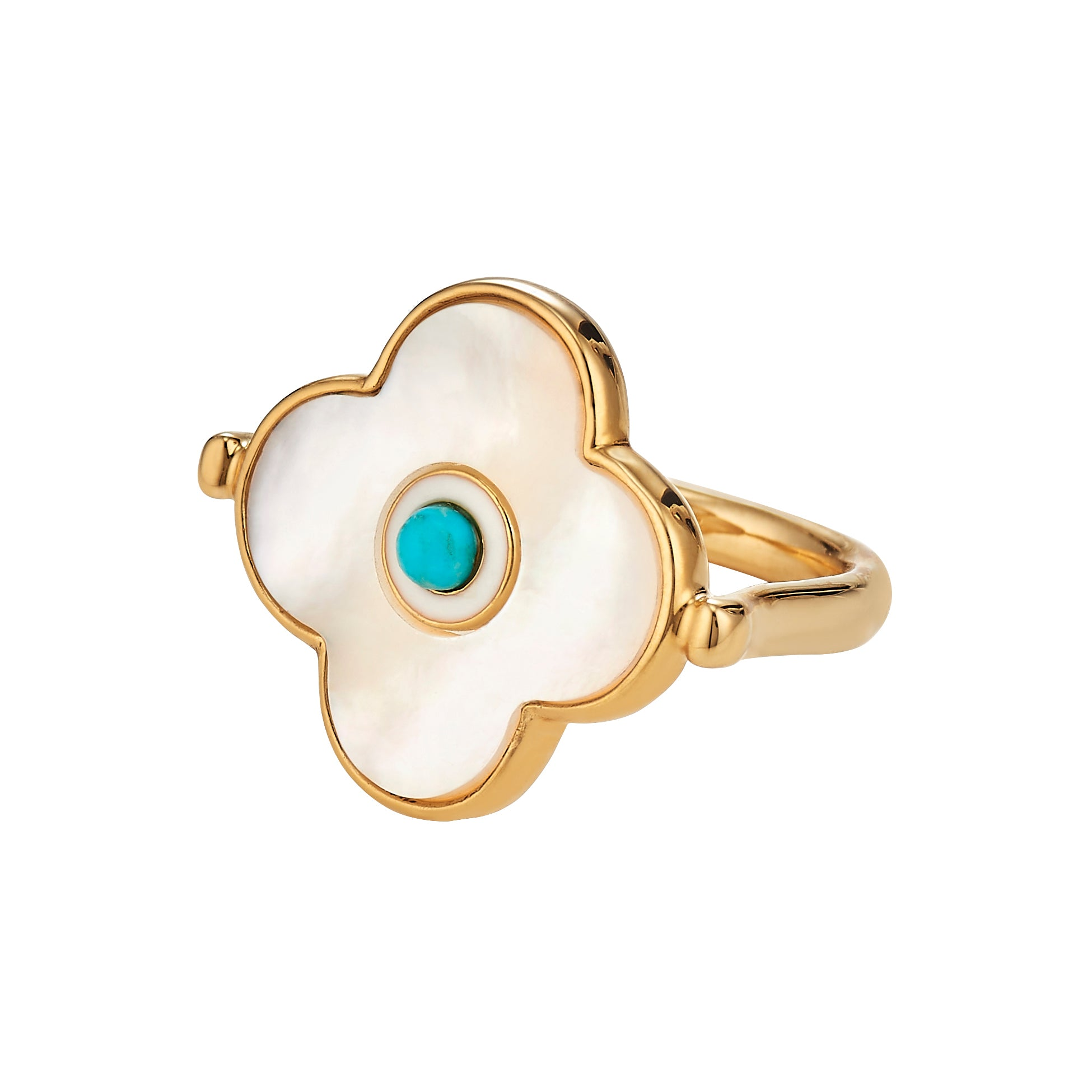 Evil Eye MOP Ring