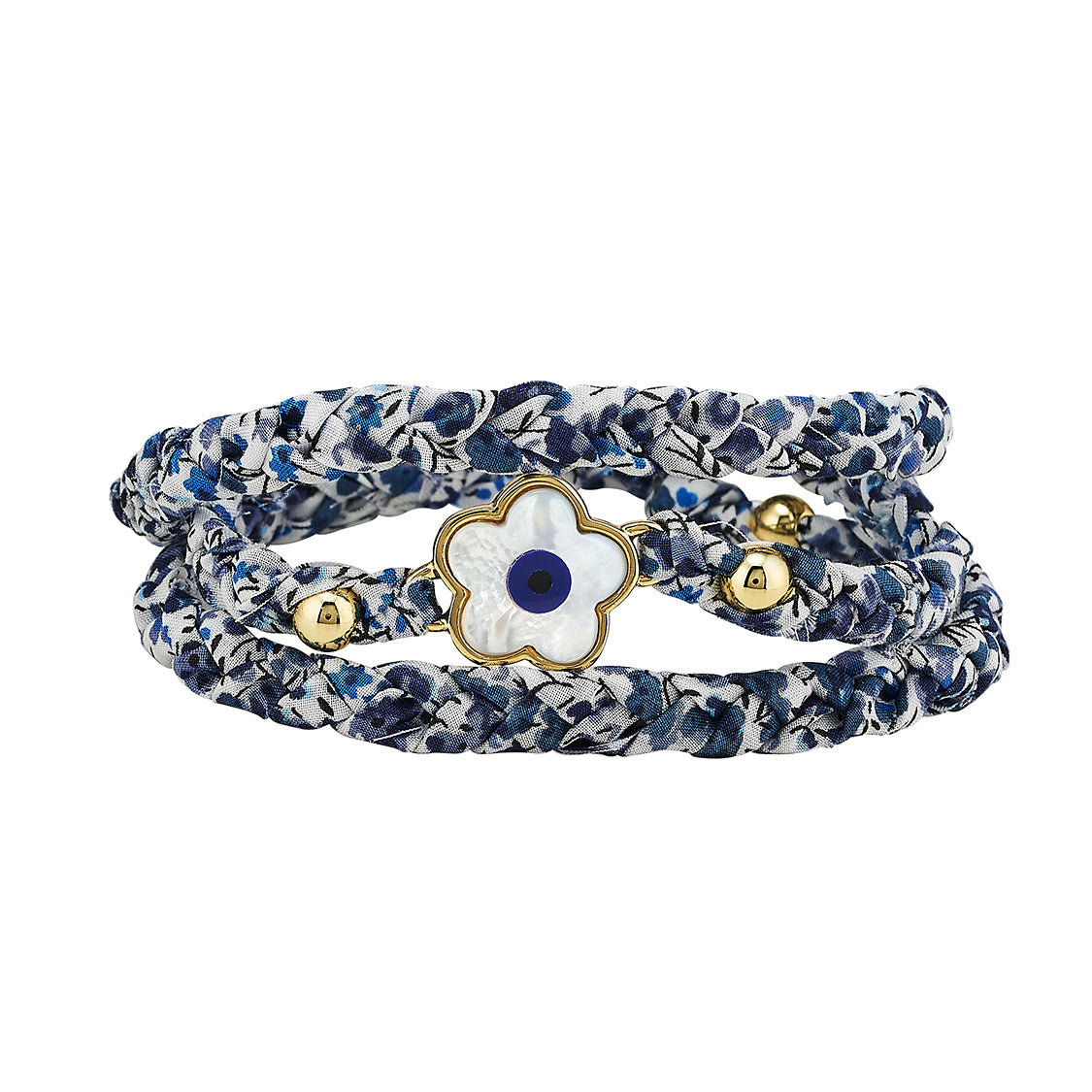 Evil Eye Blue Poppy Liberty Wrap