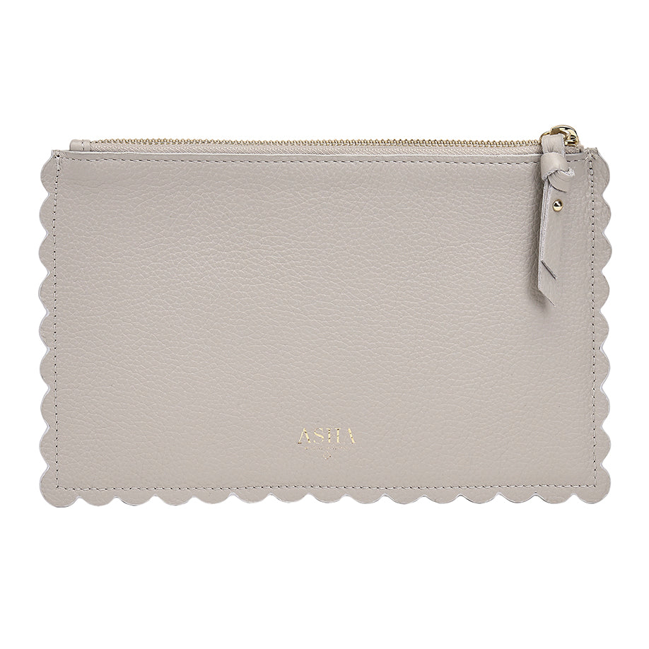 Scallop Pouch Grey