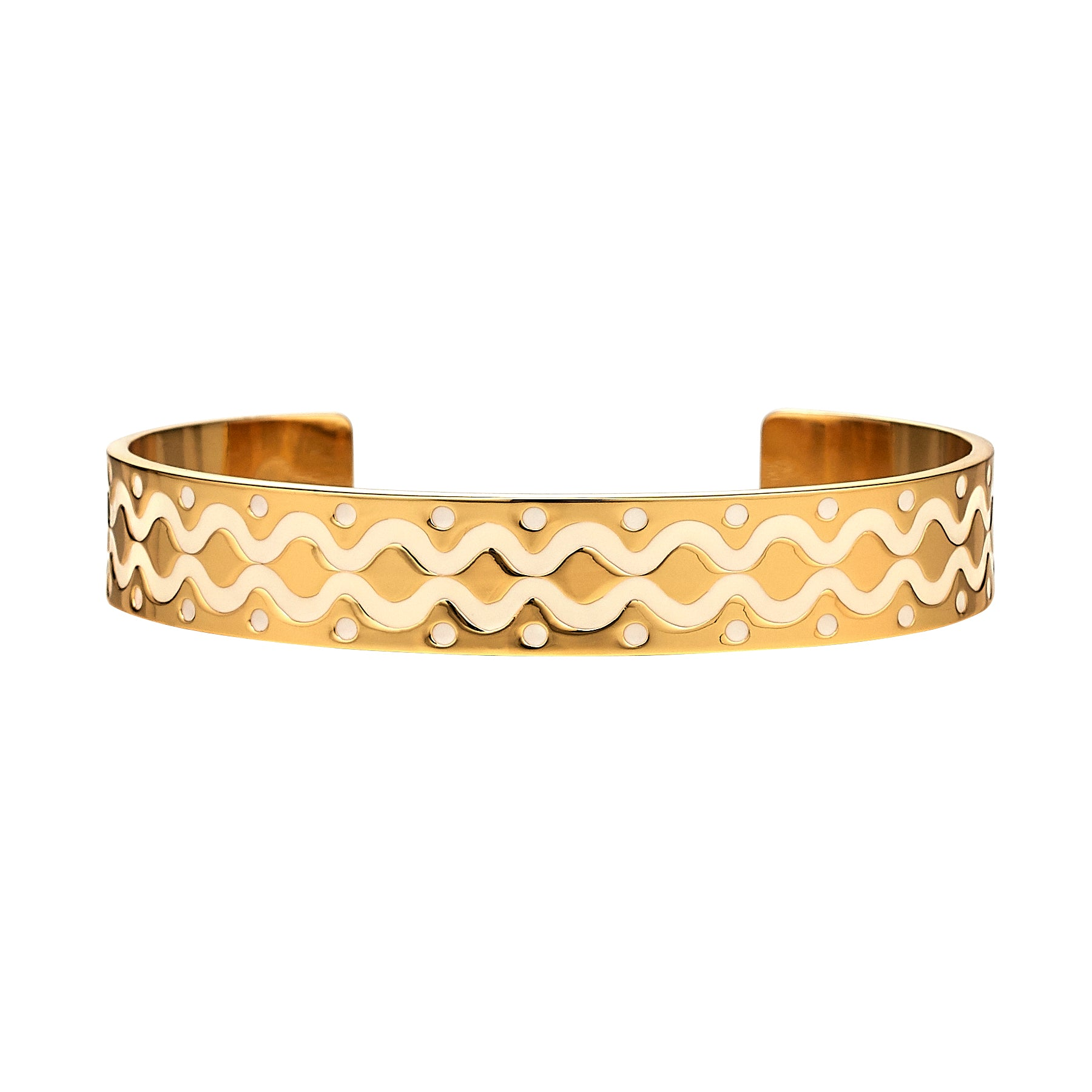 Ivory Squiggle Cuff
