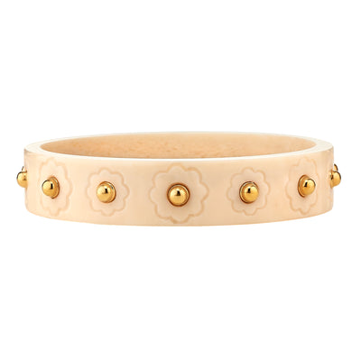 Ivory Engraved Flower Bangle