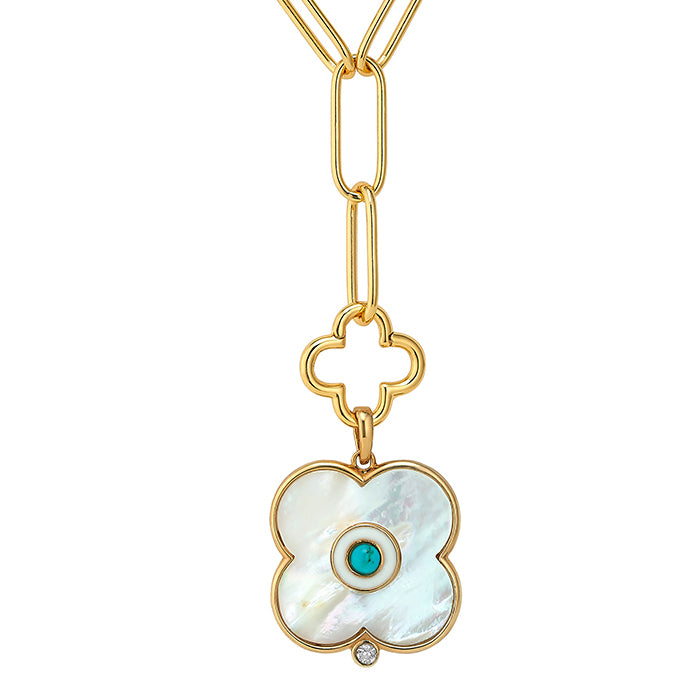 Mother of Pearl Evil Eye Charm LG