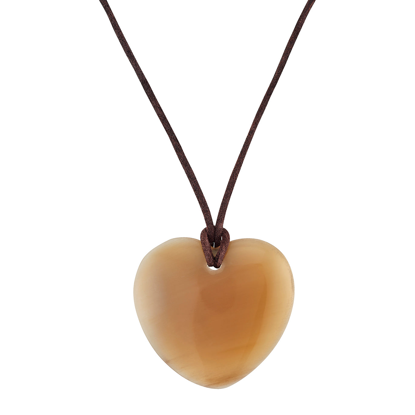 Light Horn Heart Pendant