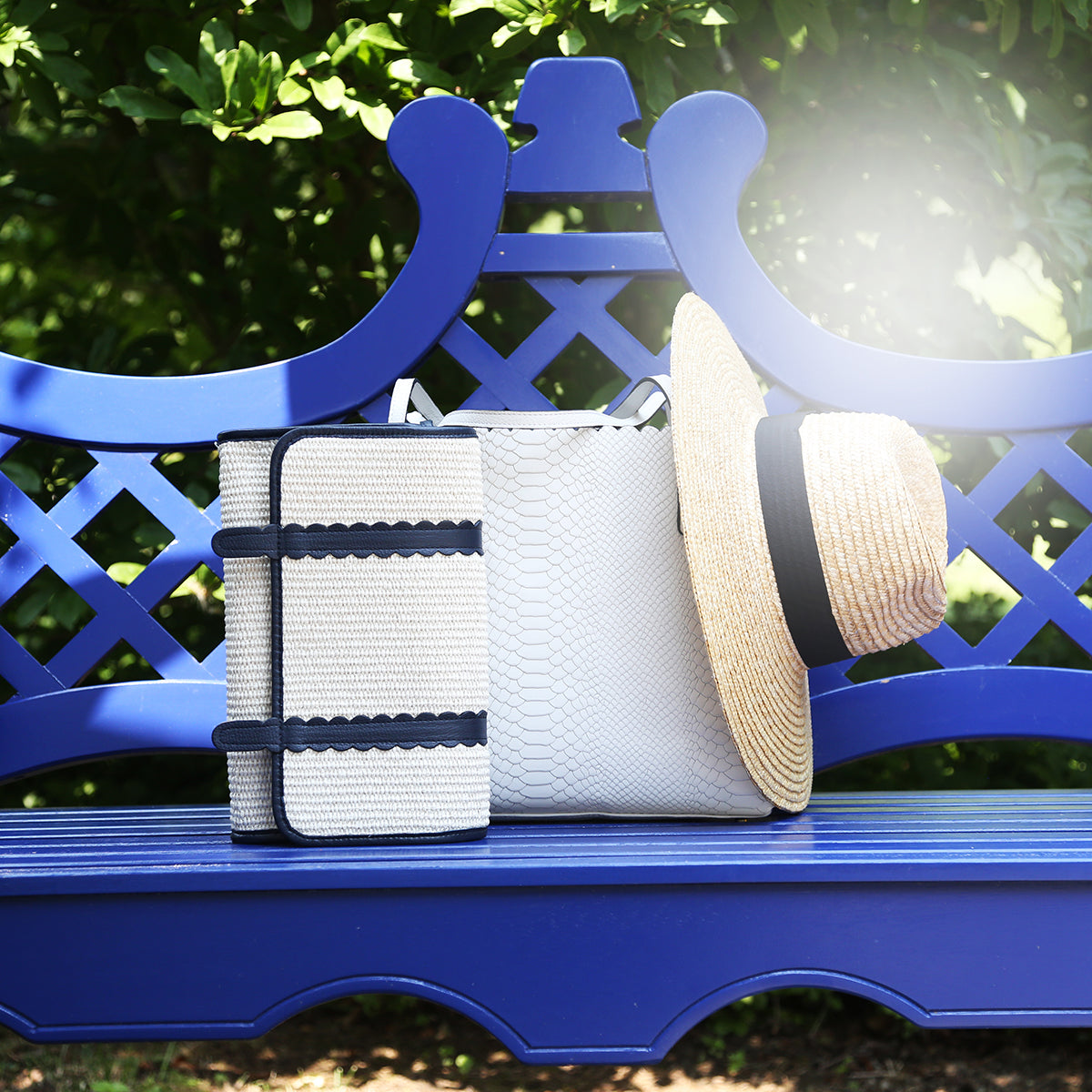 Navy Mustique Clutch