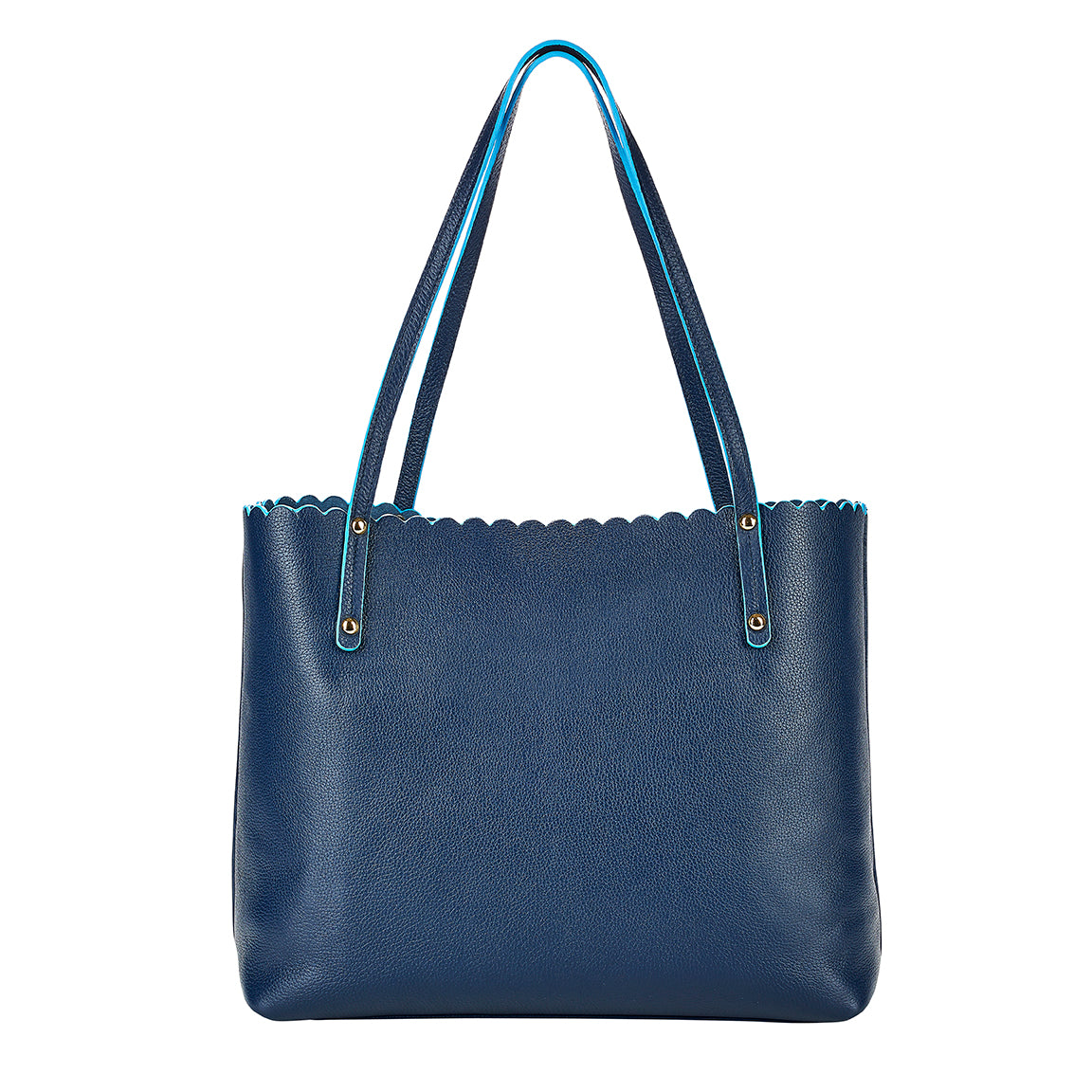 Hand Painted Waverly Tote in Navy