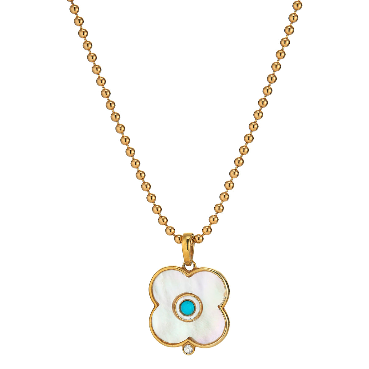Mother of Pearl Evil Eye Charm