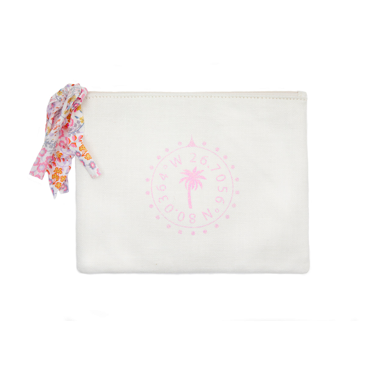 Palm Beach Glitter Pouch