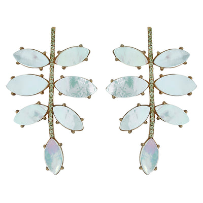 Pave Palm Earring