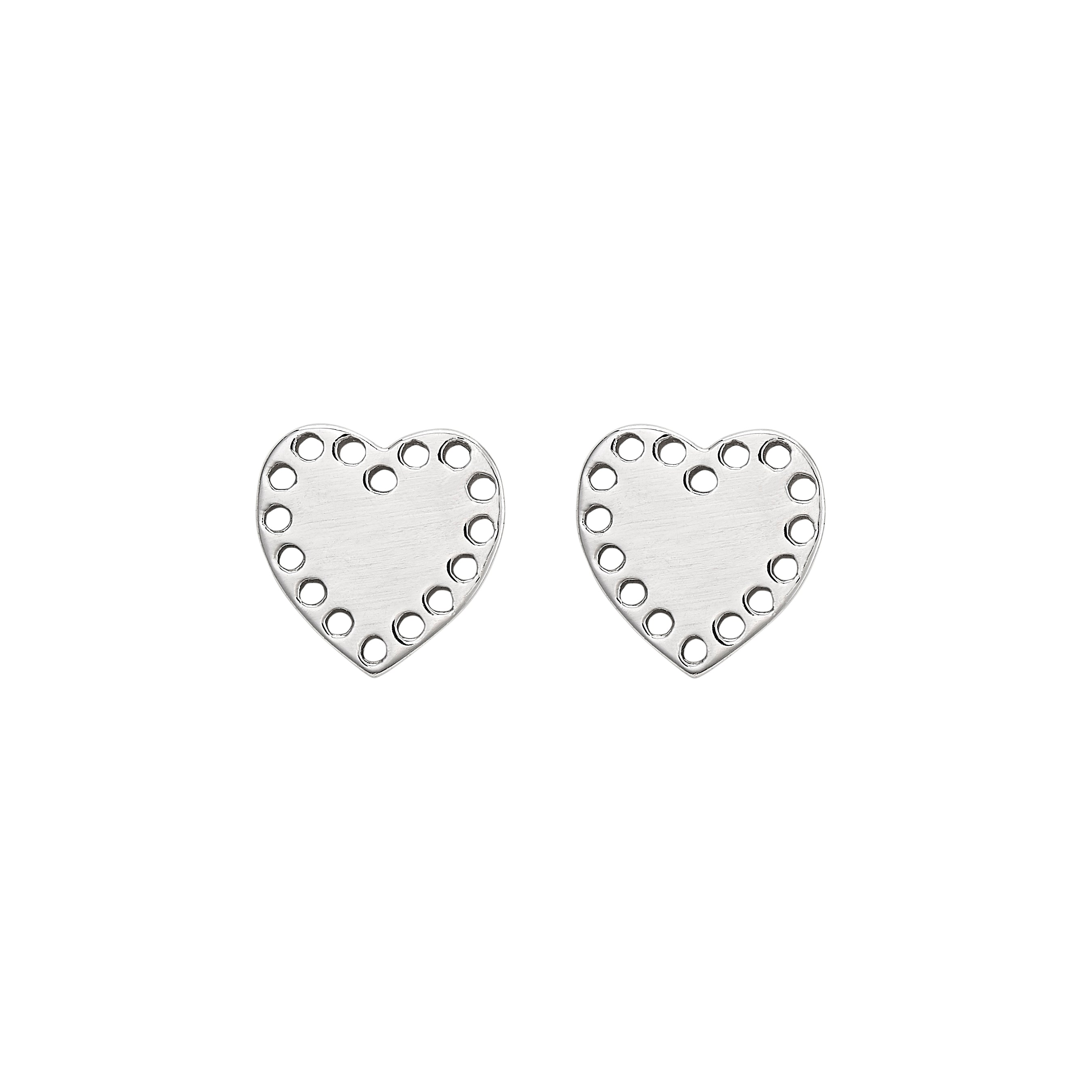 Petite Silver Heart Studs