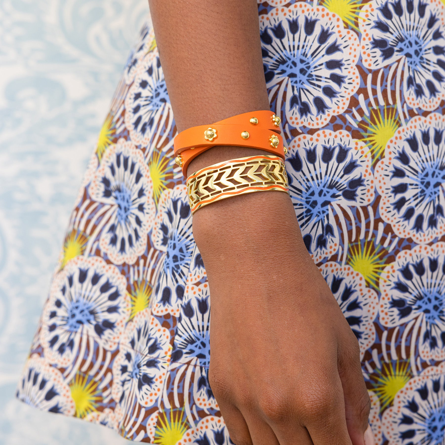 Skinny Cala Cuff - Orange