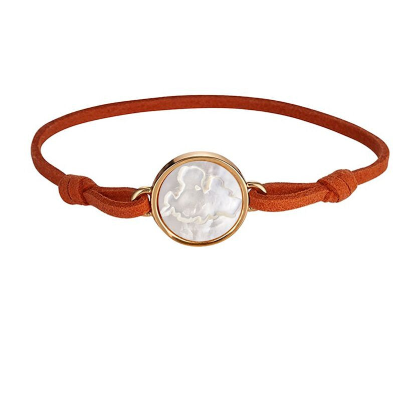 Mykonos Orange Suede Bracelet