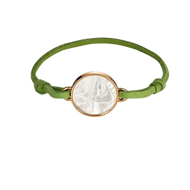 Nantucket Green Suede Bracelet