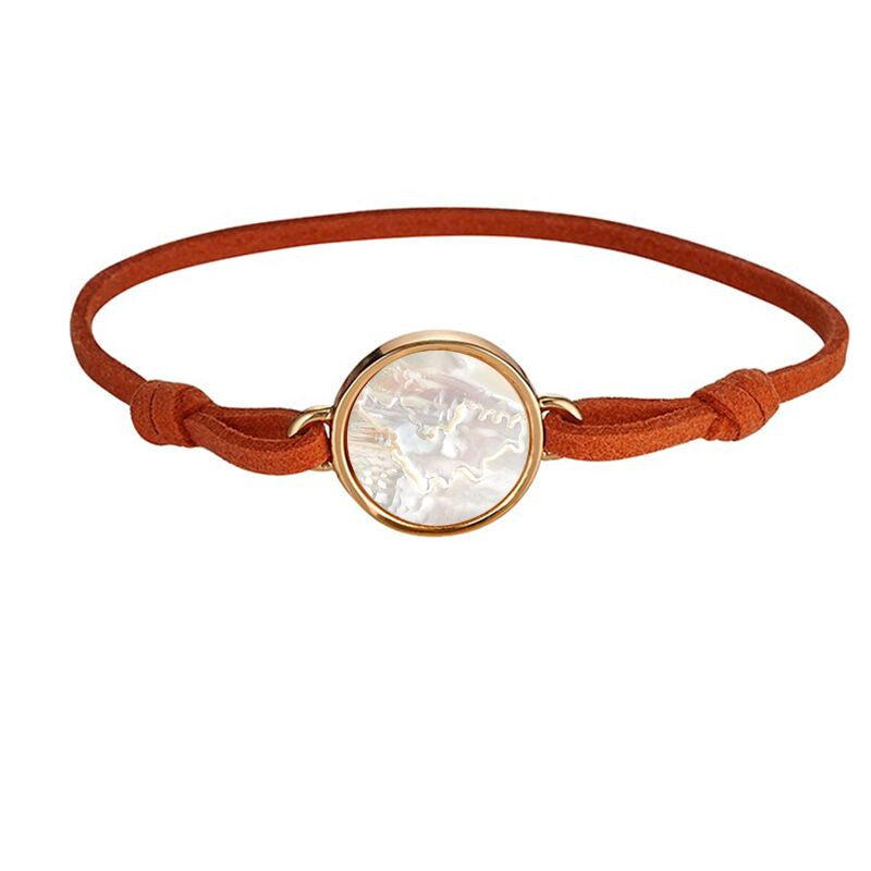 St. Barths Orange Suede Bracelet