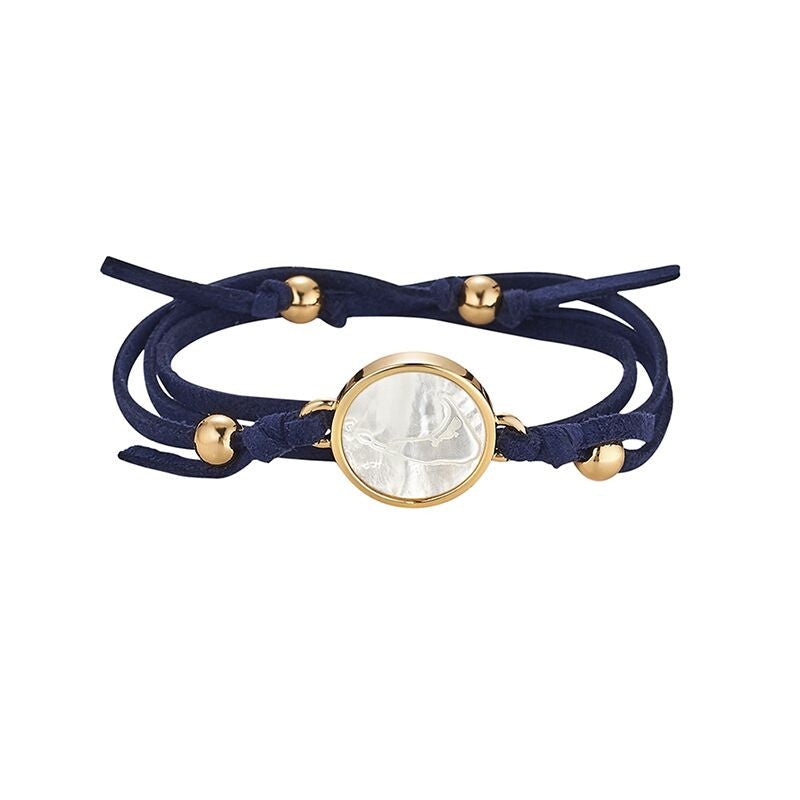 Nantucket Navy Suede Wrap