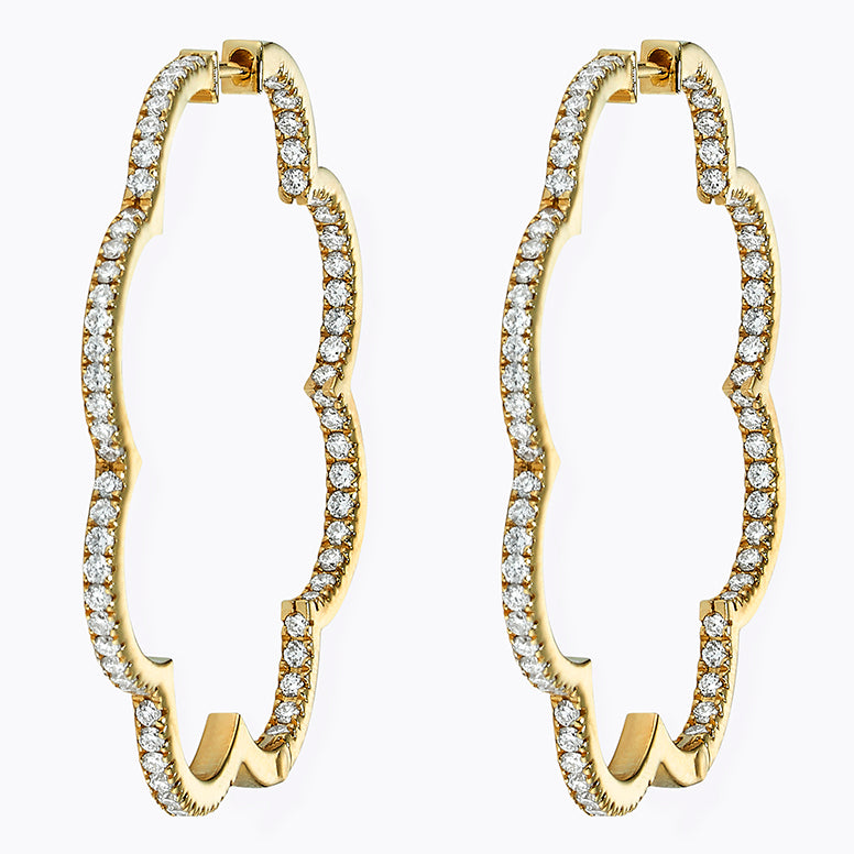 Large Diamond Scallop Hoops