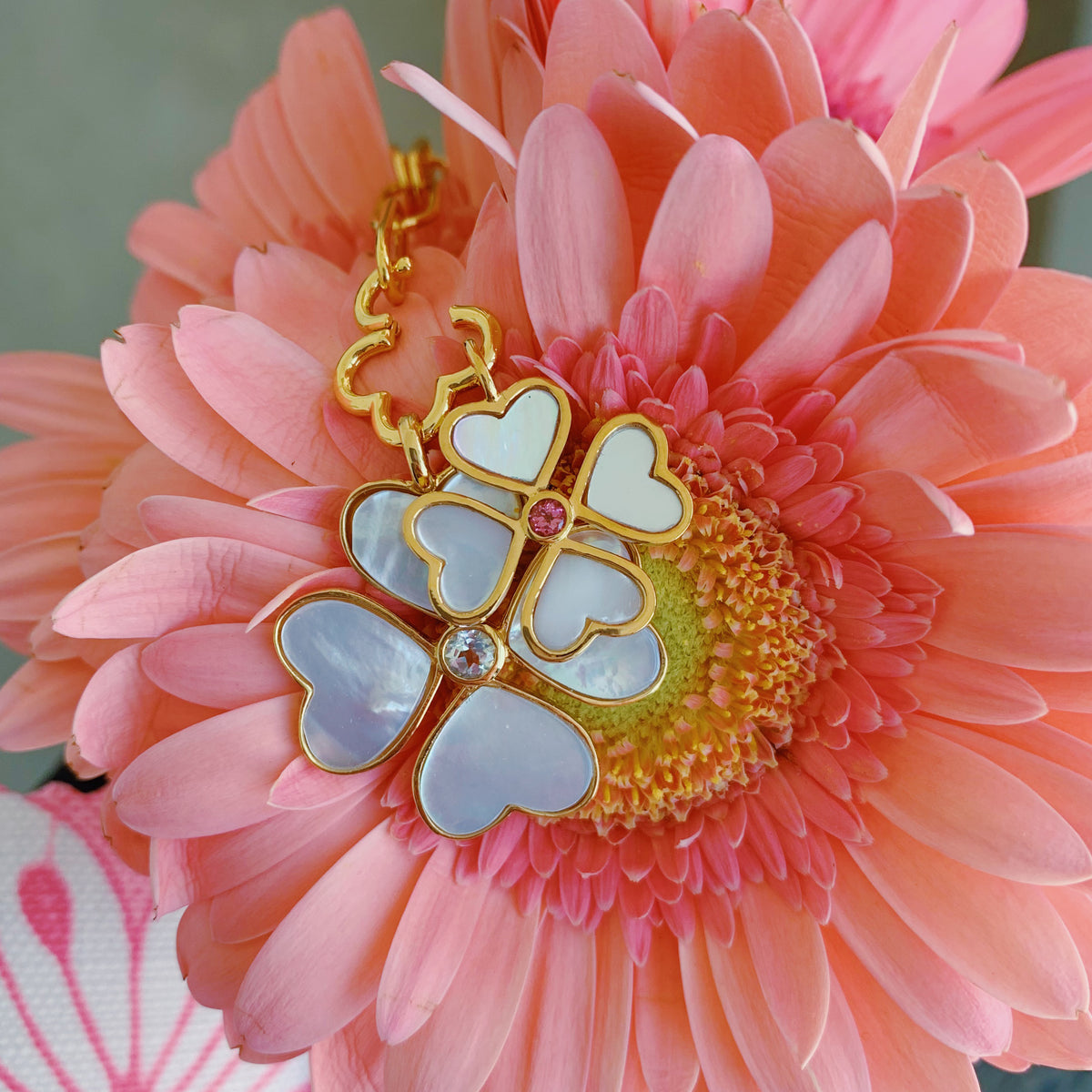 Mini Heart Clover Charm