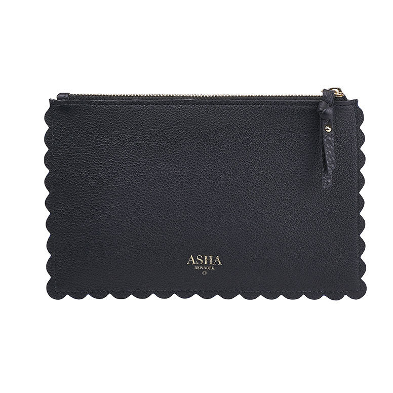 Scallop Pouch Black