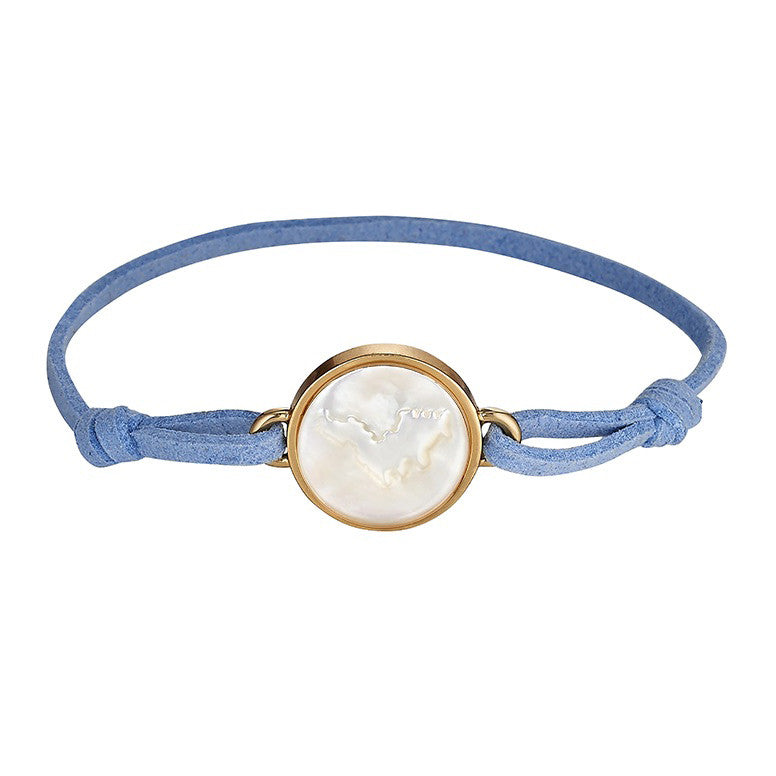 Light Blue Suede Bracelet