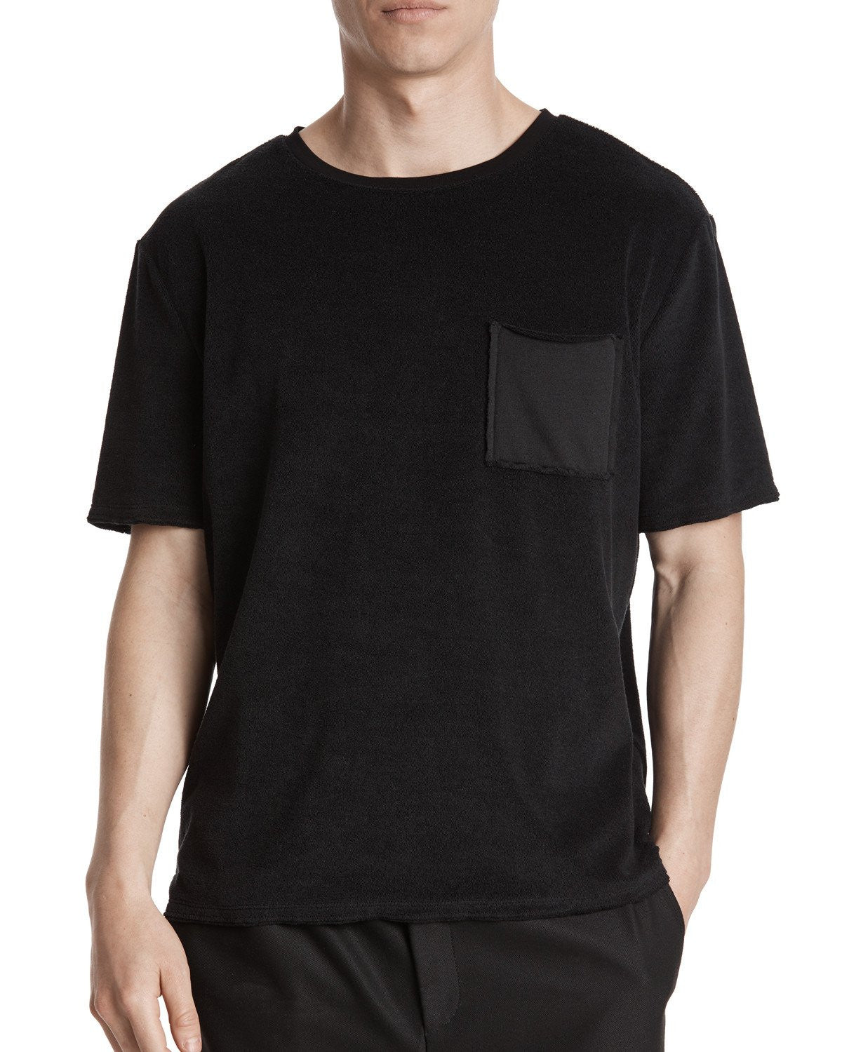 ATM French Terry Relaxed Fit Pocket Tee