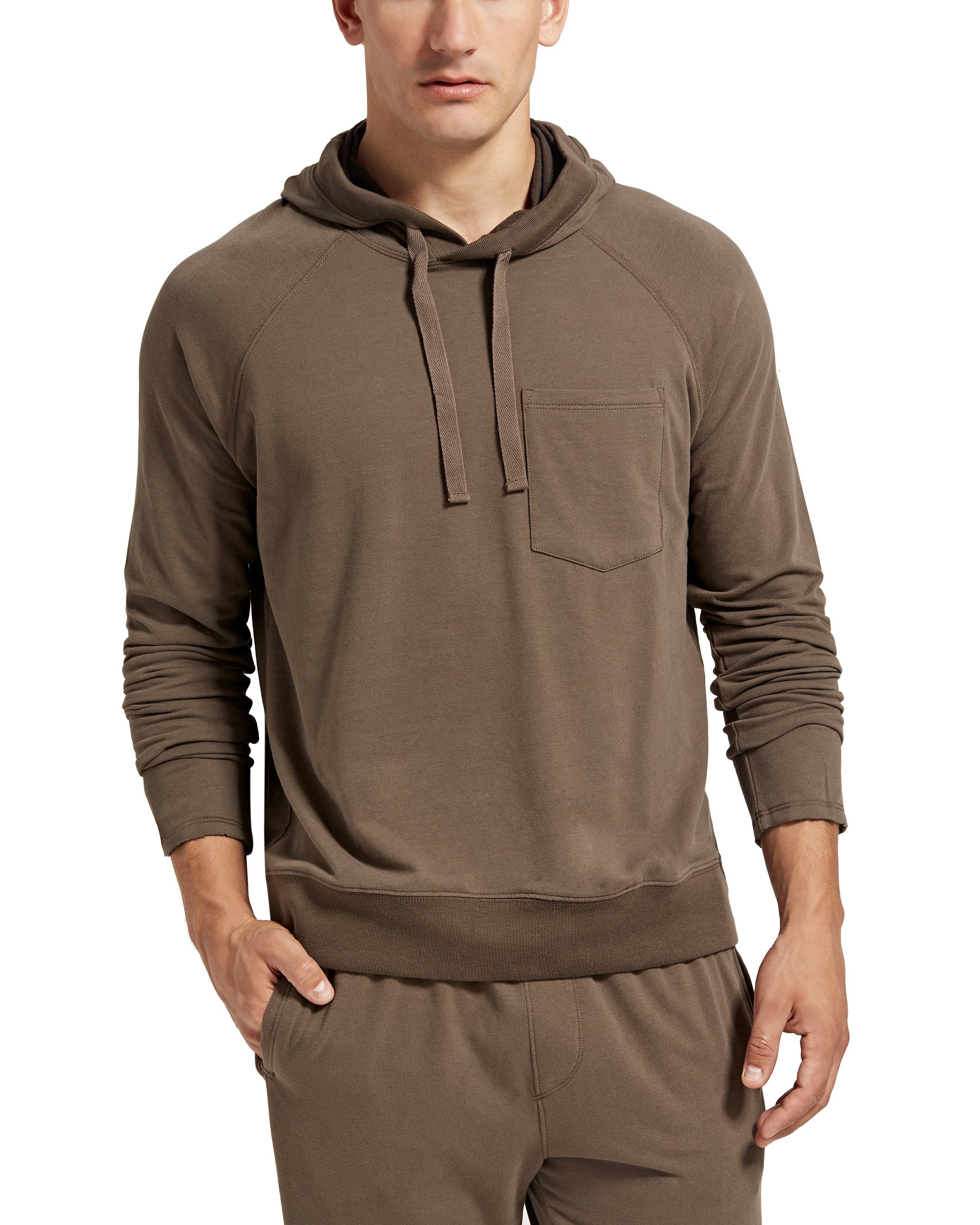 ATM Brushed Fleece Pull Over Hoodie
