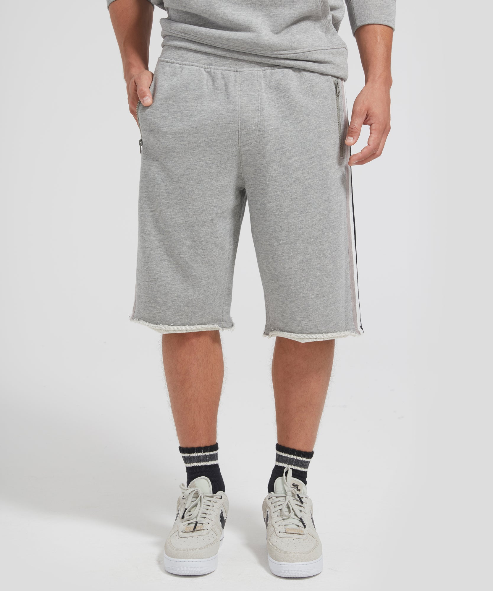 ATM French Terry Racing Stripe Shorts